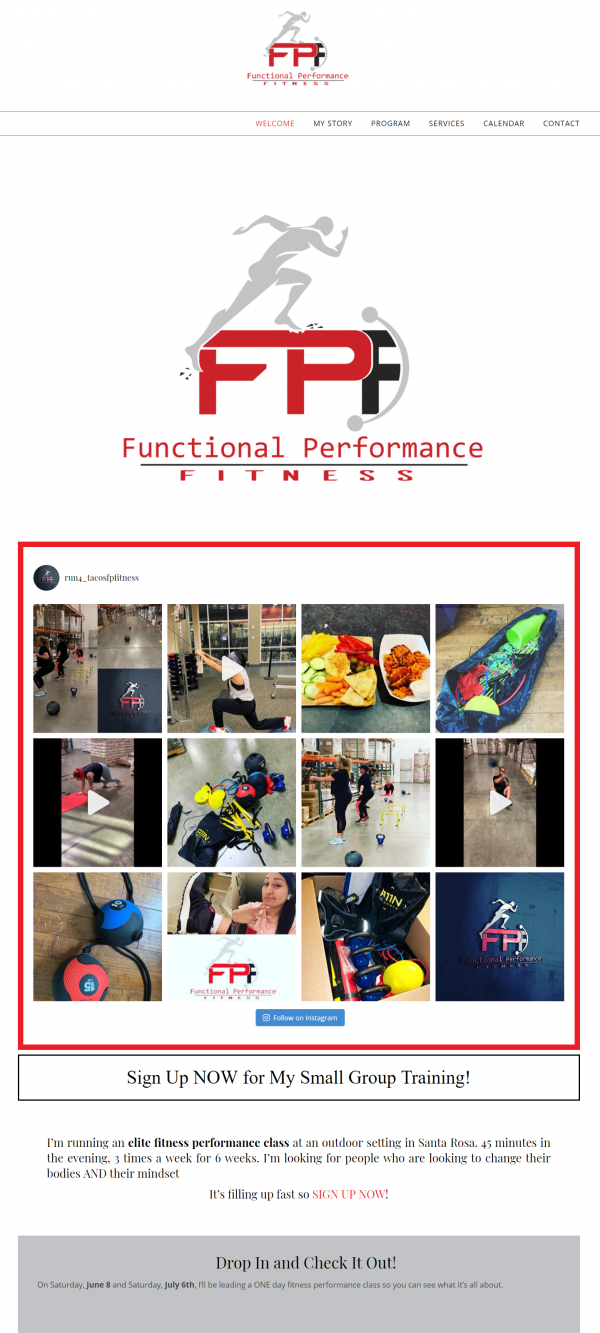 Functional Performance Fitness website